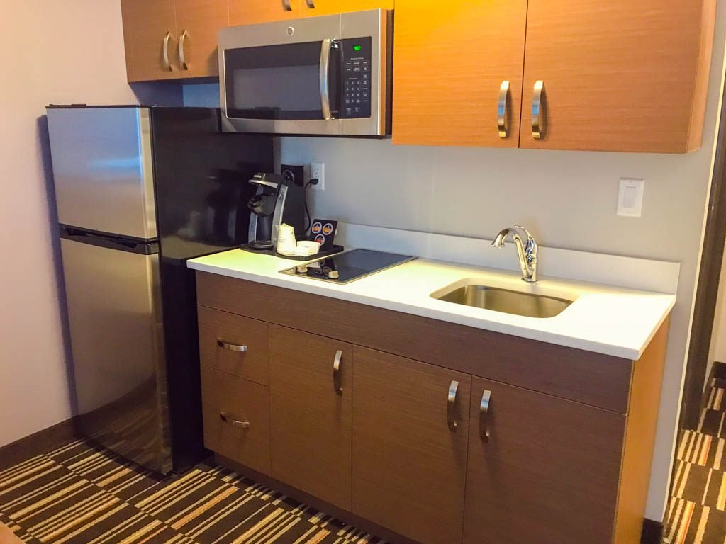 Kitchen in microtel by Wyndham Ladysmith