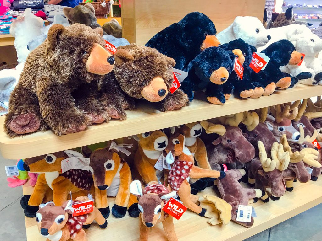 Stuffed animal toys at the BC Wildlife park Kamloops