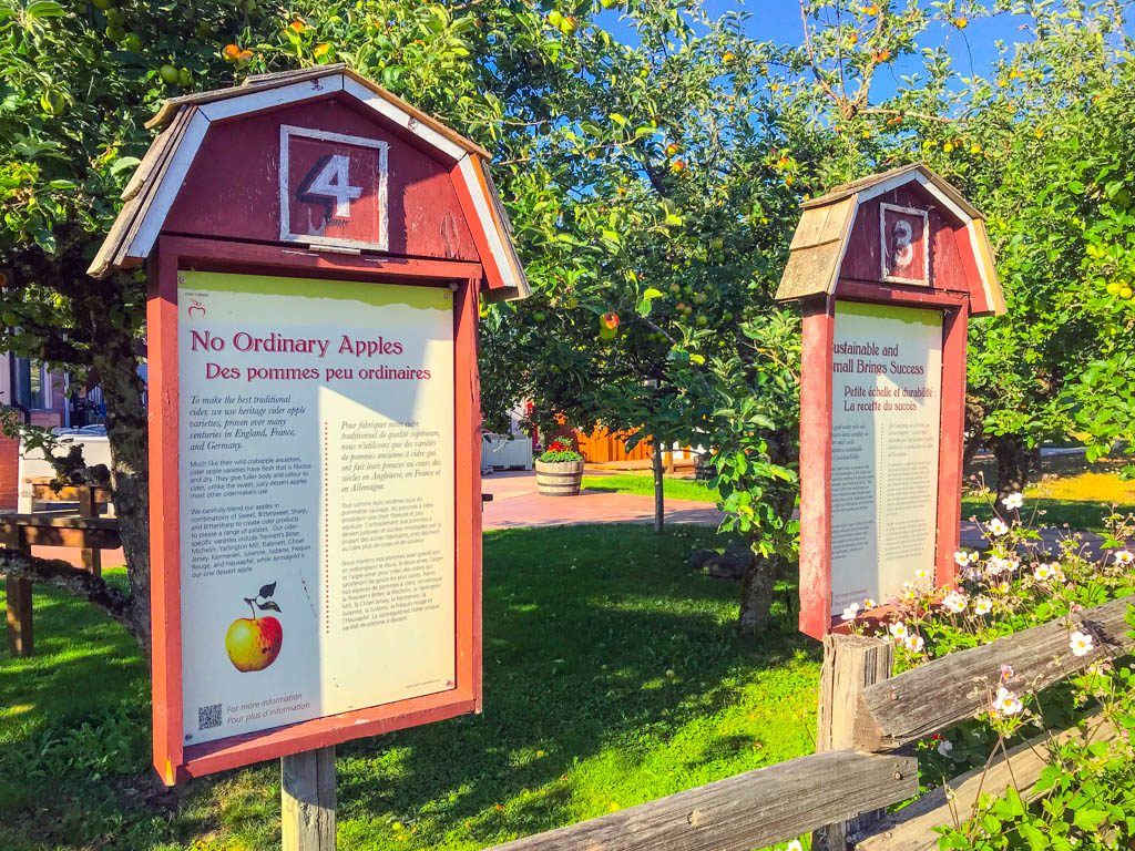 orchard signs at Merridale Cidery and Distillery