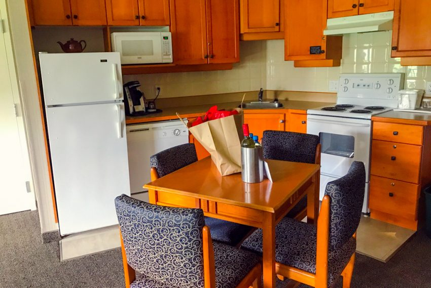 Room kitchen in Ramada Hotel in Penticton BC