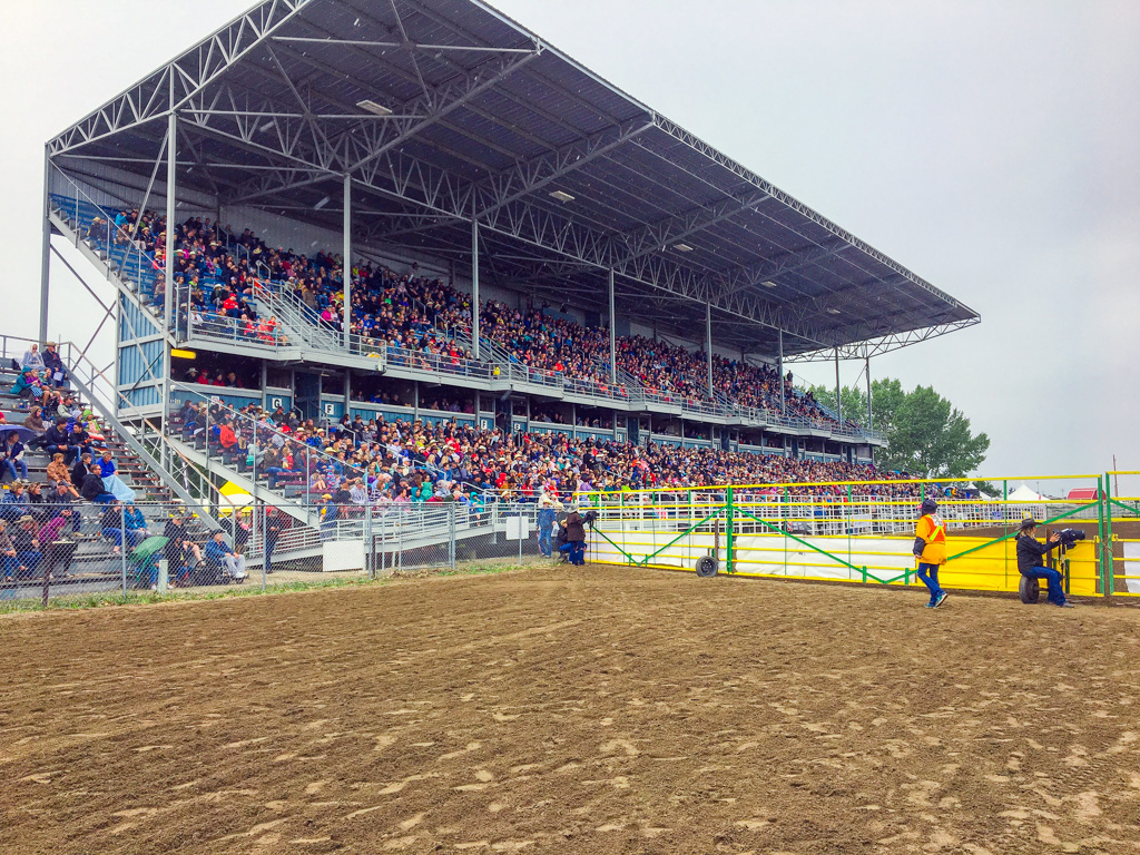 Strathmore Stampede grandstand on the Canadian Badlands Road Trip