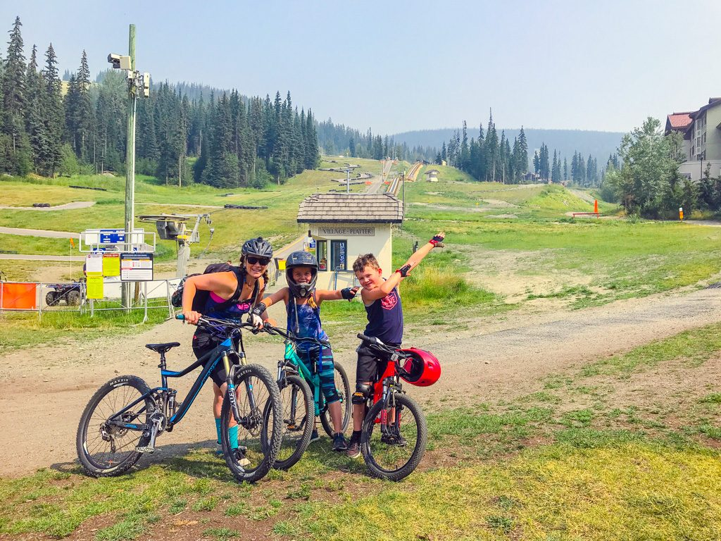 Sun-Peaks-family-mountain-biking