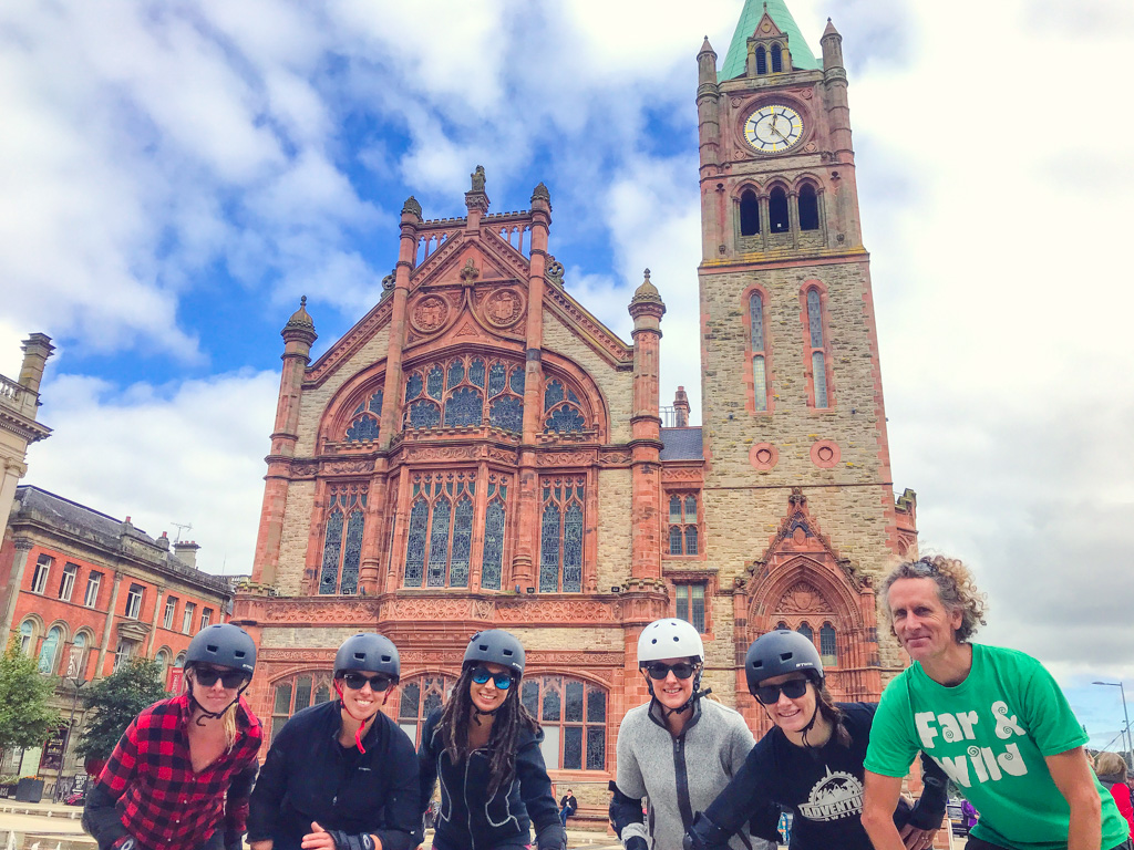 tour-group-outside-guildhall-in-derry-ireland