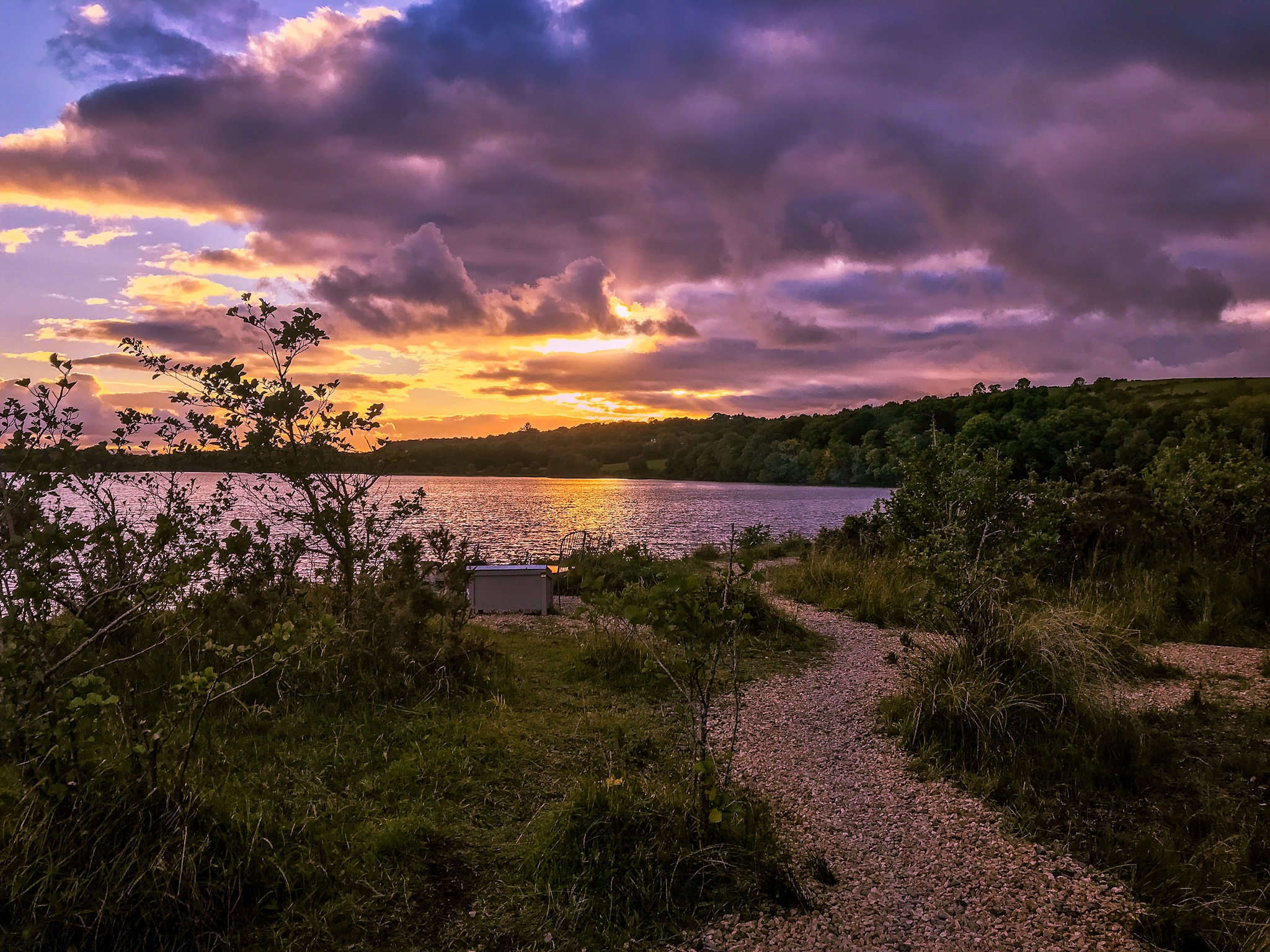trail-at-finn-lough-during-sunset