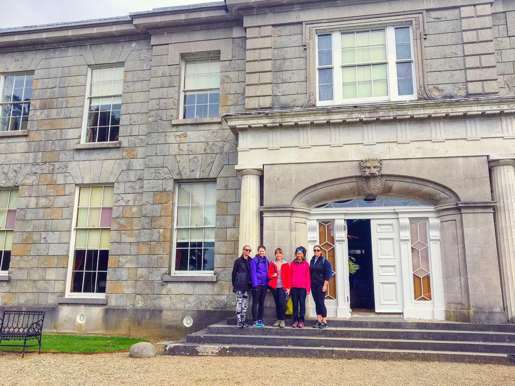 Jami Savage and women outside Argory house in Ireland