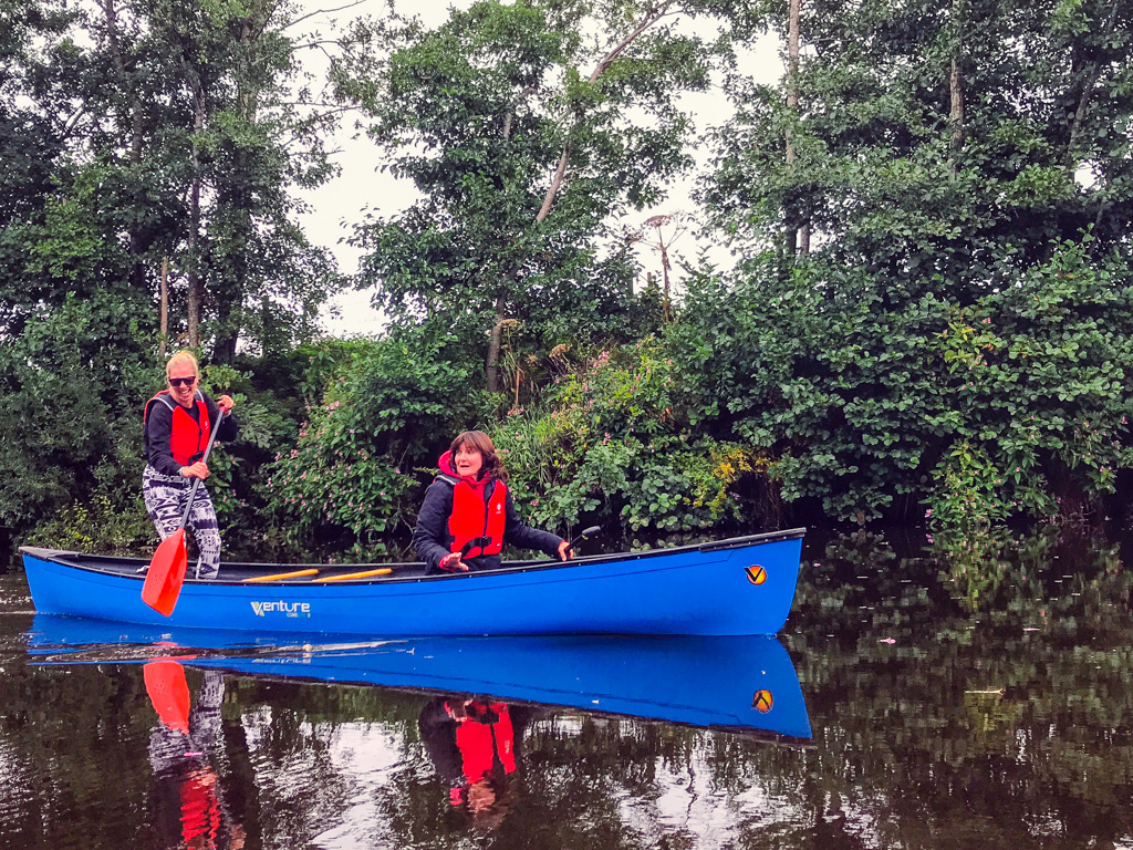 Two women canoeing Northern Ireland