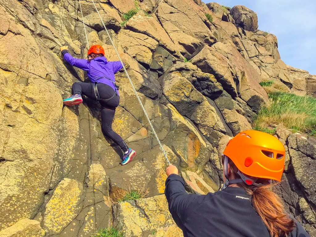 woman Rock Climbing Northern Ireland