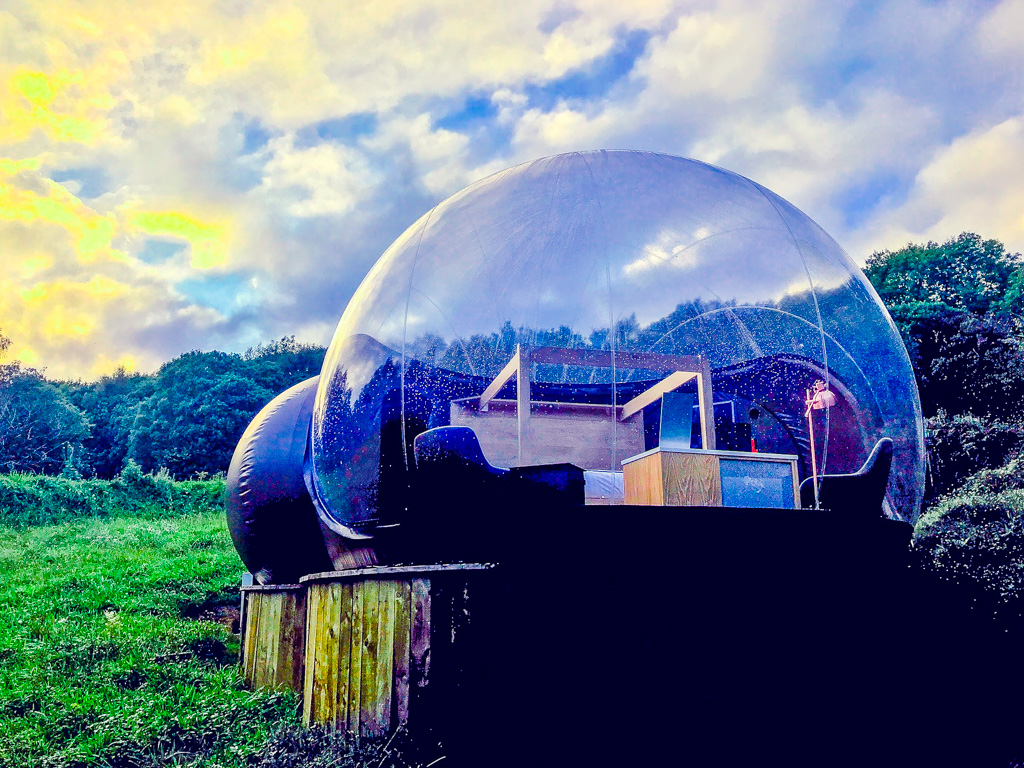Bubble dome in Northern Ireland with Kids