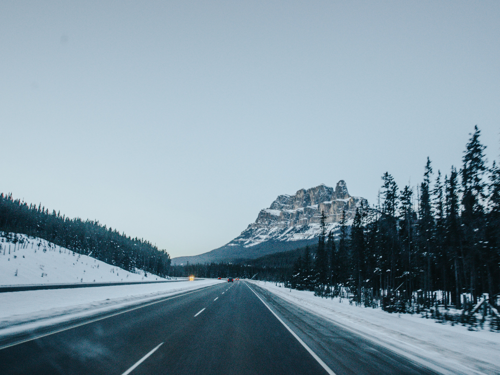 Highway to Banff for a classic Canadian winter