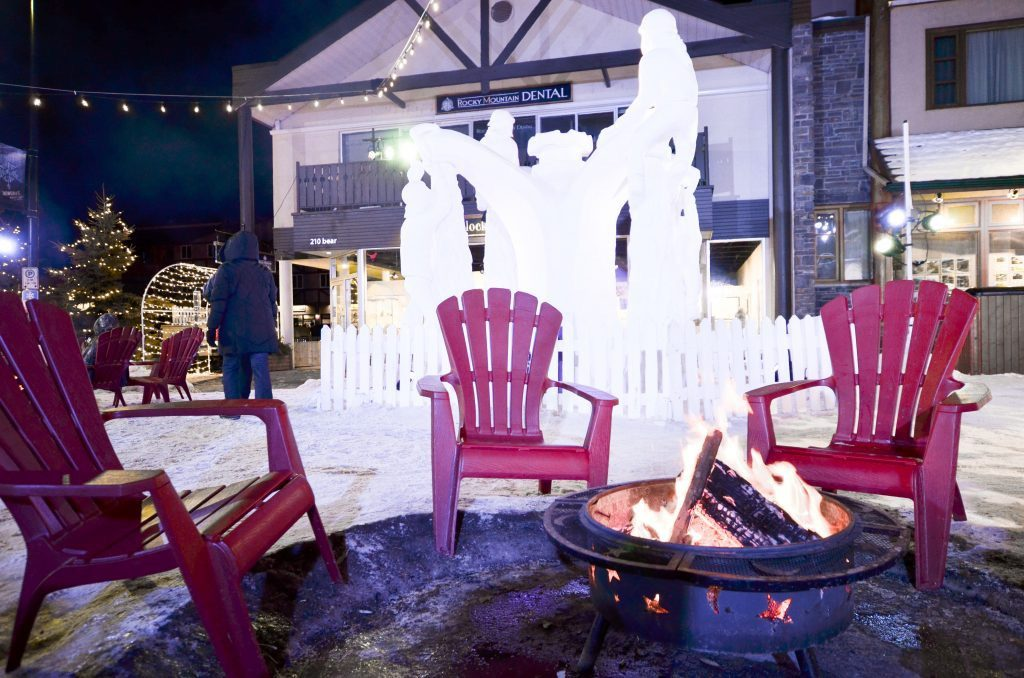 Fire pit at Banff SnowDays Festival