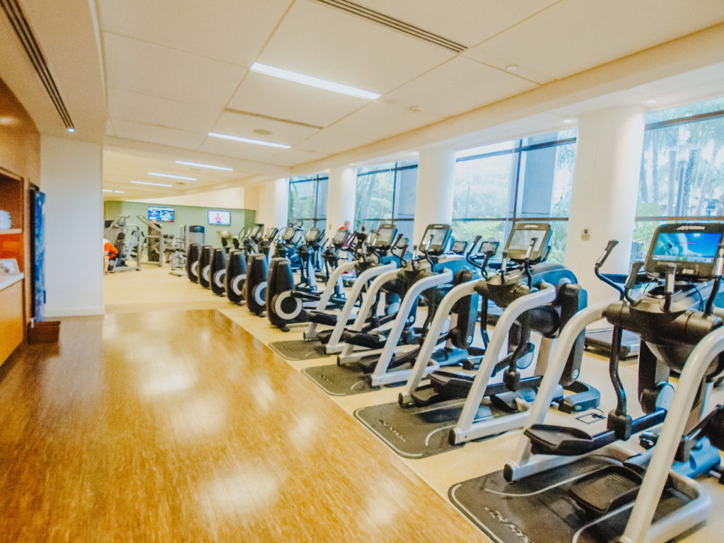 Inside the fitness centre at Marriott Marquis San Diego