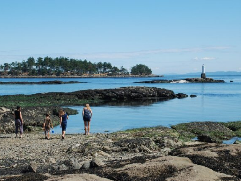 family-on-beach-on-gabriola-island