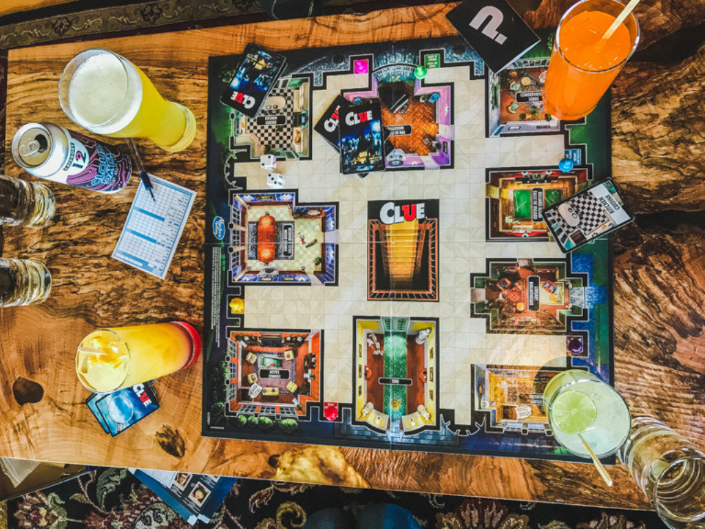 board-games-and-drinks-on-table