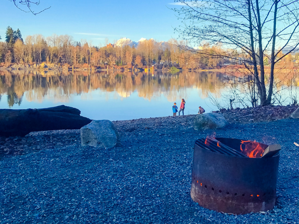 Where to have a campfire in Vancouver derby reach