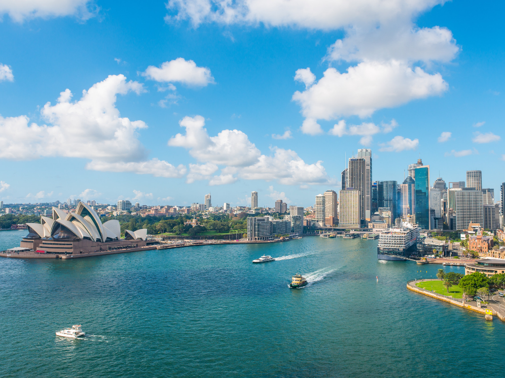 View of downtown Sydney harbour
