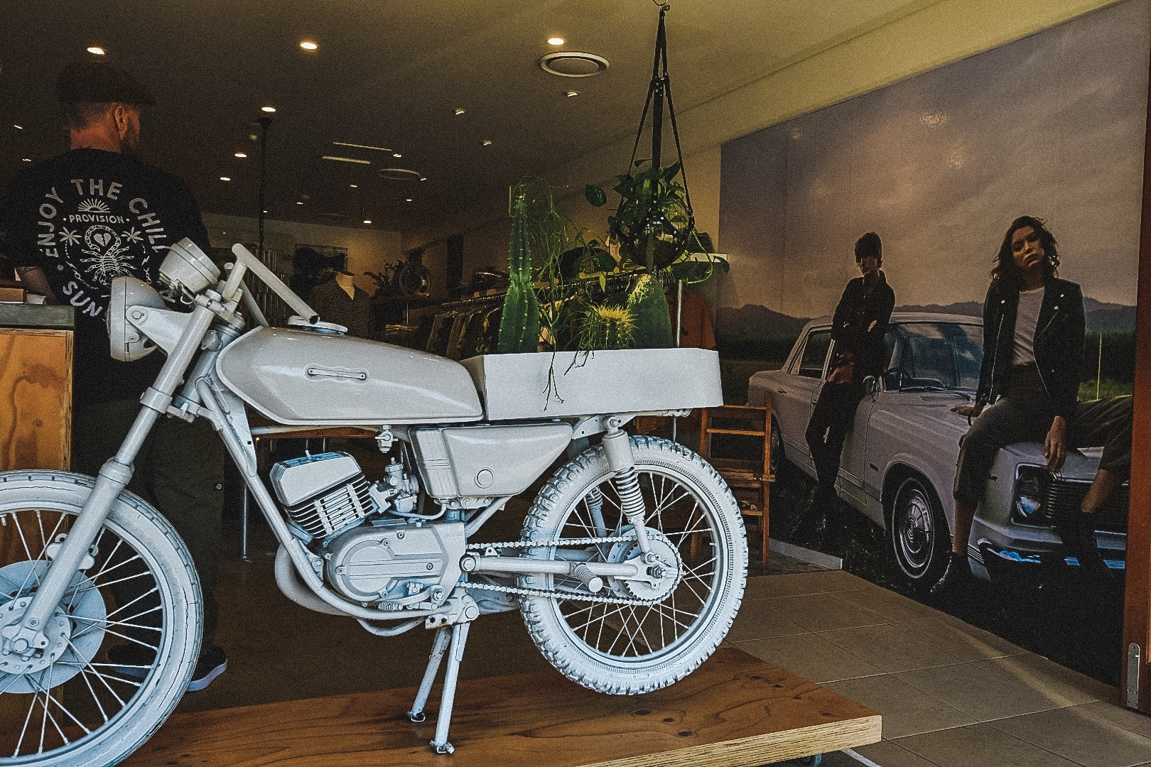 motorcycle-display-in-clothing-store-in-byron-bay