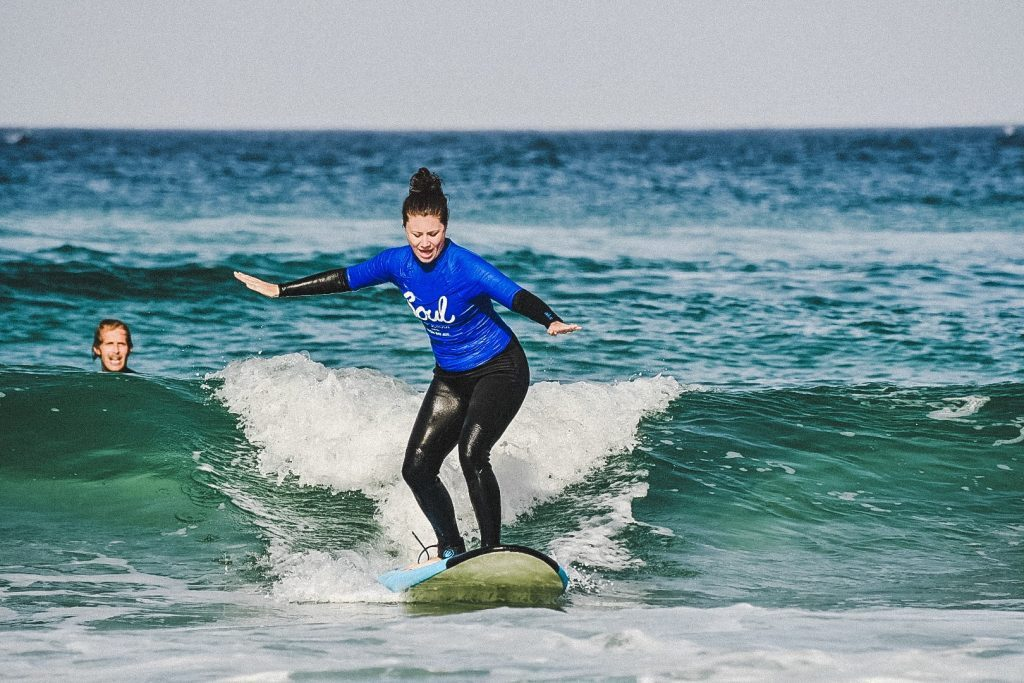 jami savage surfing in byron bay