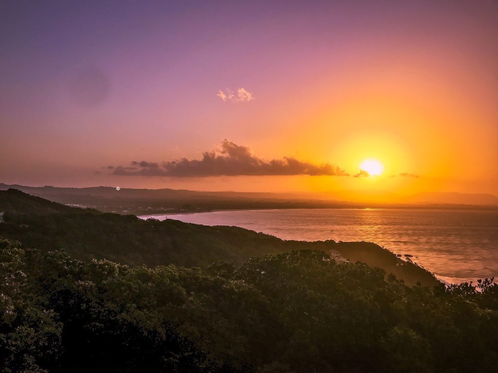 sunset in byron bay