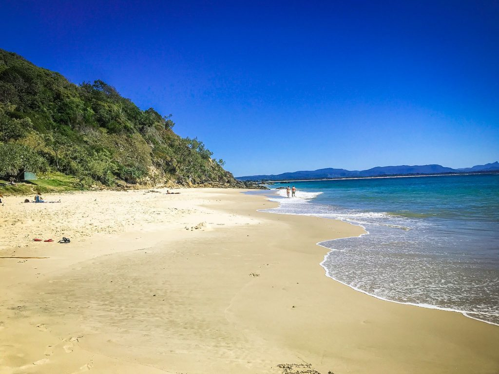 sandy beach in byron bay one of the Things to do in Byron Bay with Kids