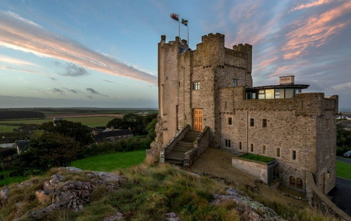 view of the outside of the Roch Castle Hotel Pembrokeshire
