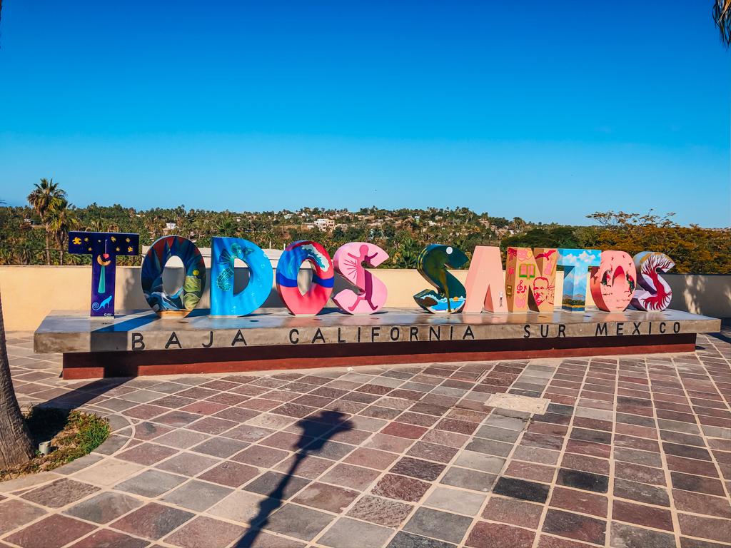 Sign that says Todos Santos
