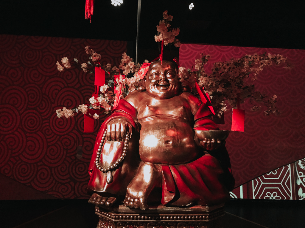 Buddha statue inside flyover canada taiwan preshow room