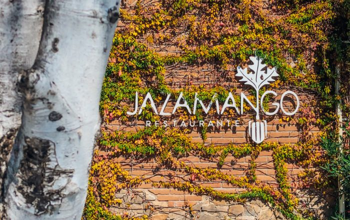 Jazamango restaurant sign