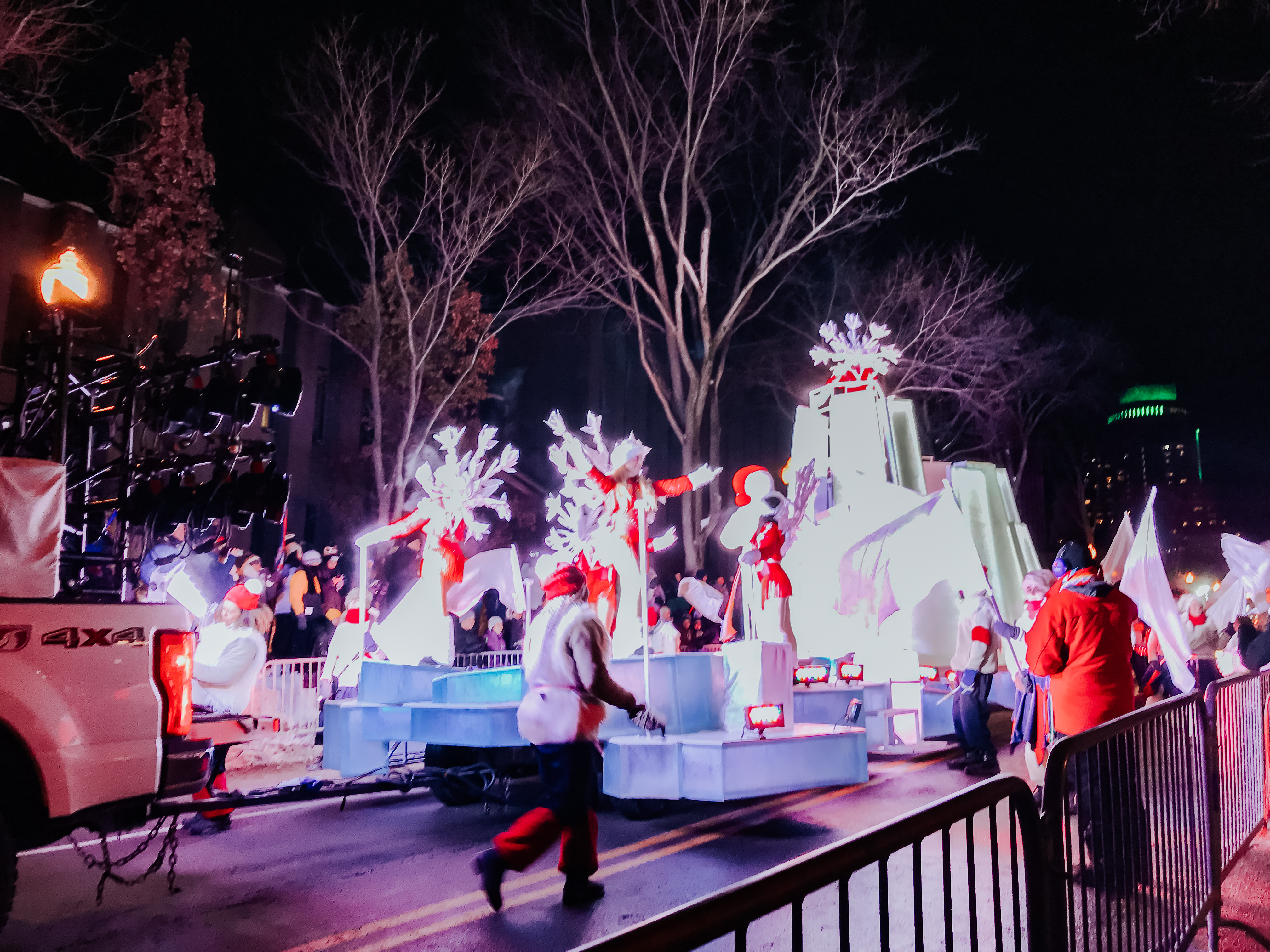 parade float in the Carnaval de Quebec winter parade