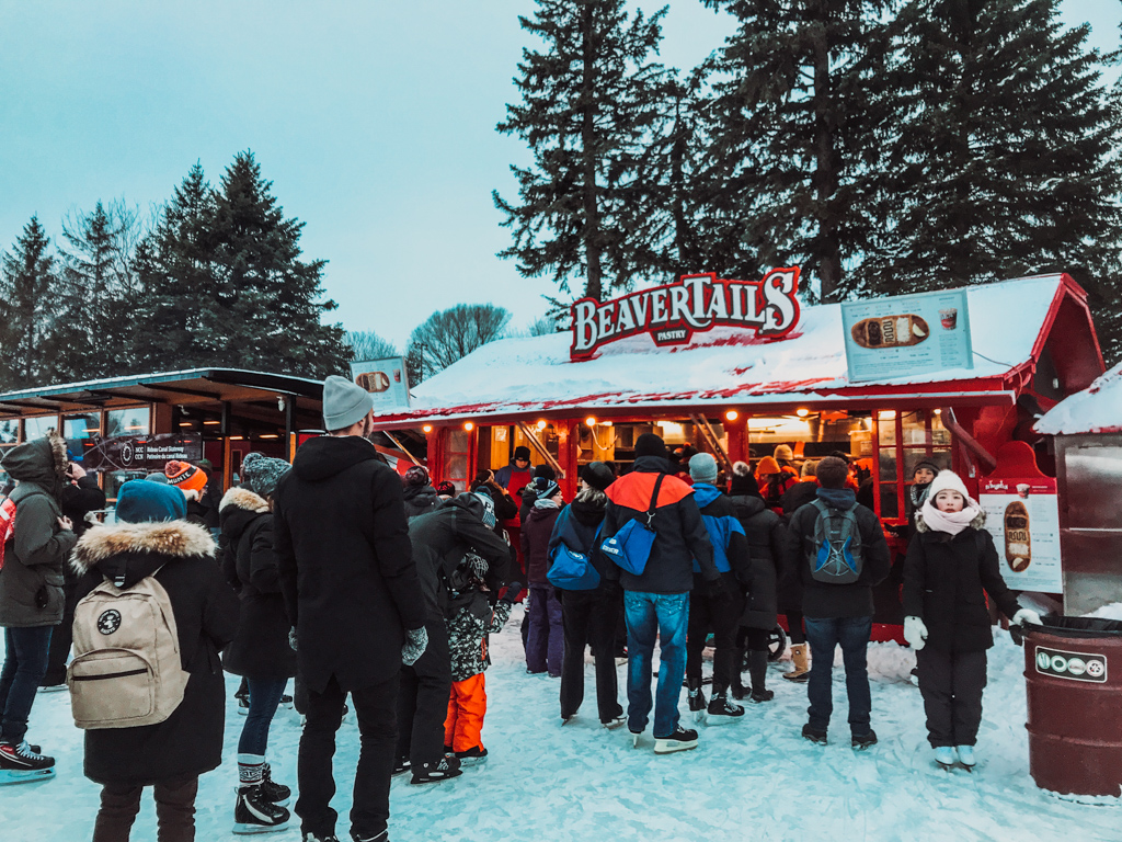 beaver tail stand on the rideau canal skating trail