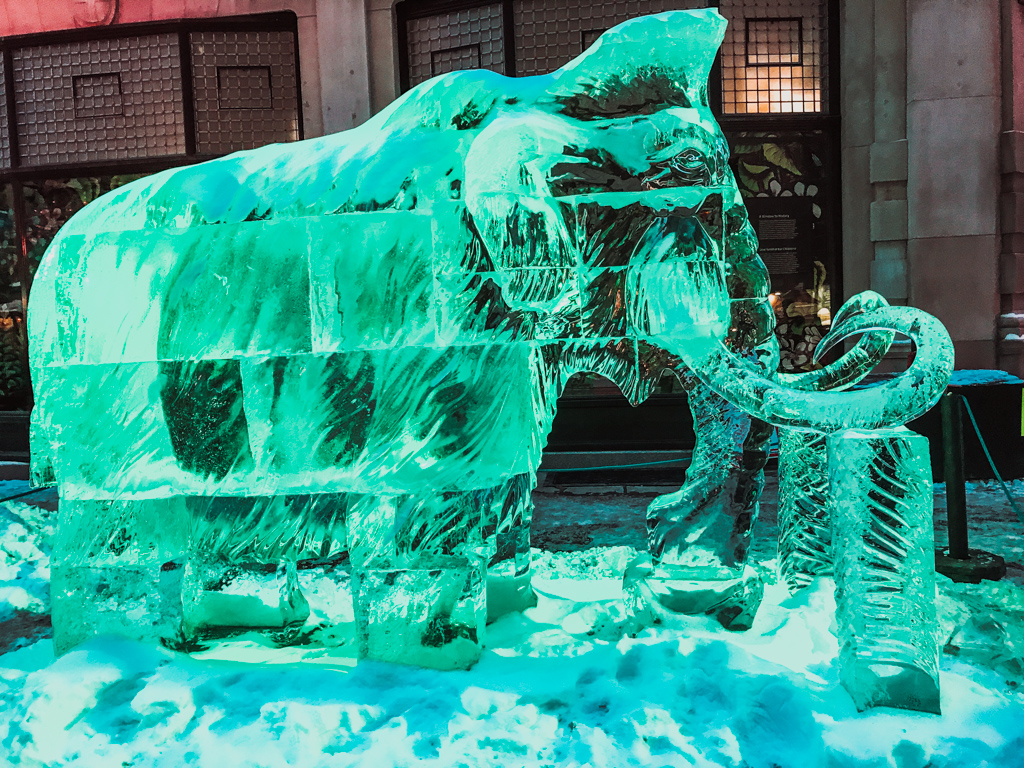 Mammoth ice sculpture