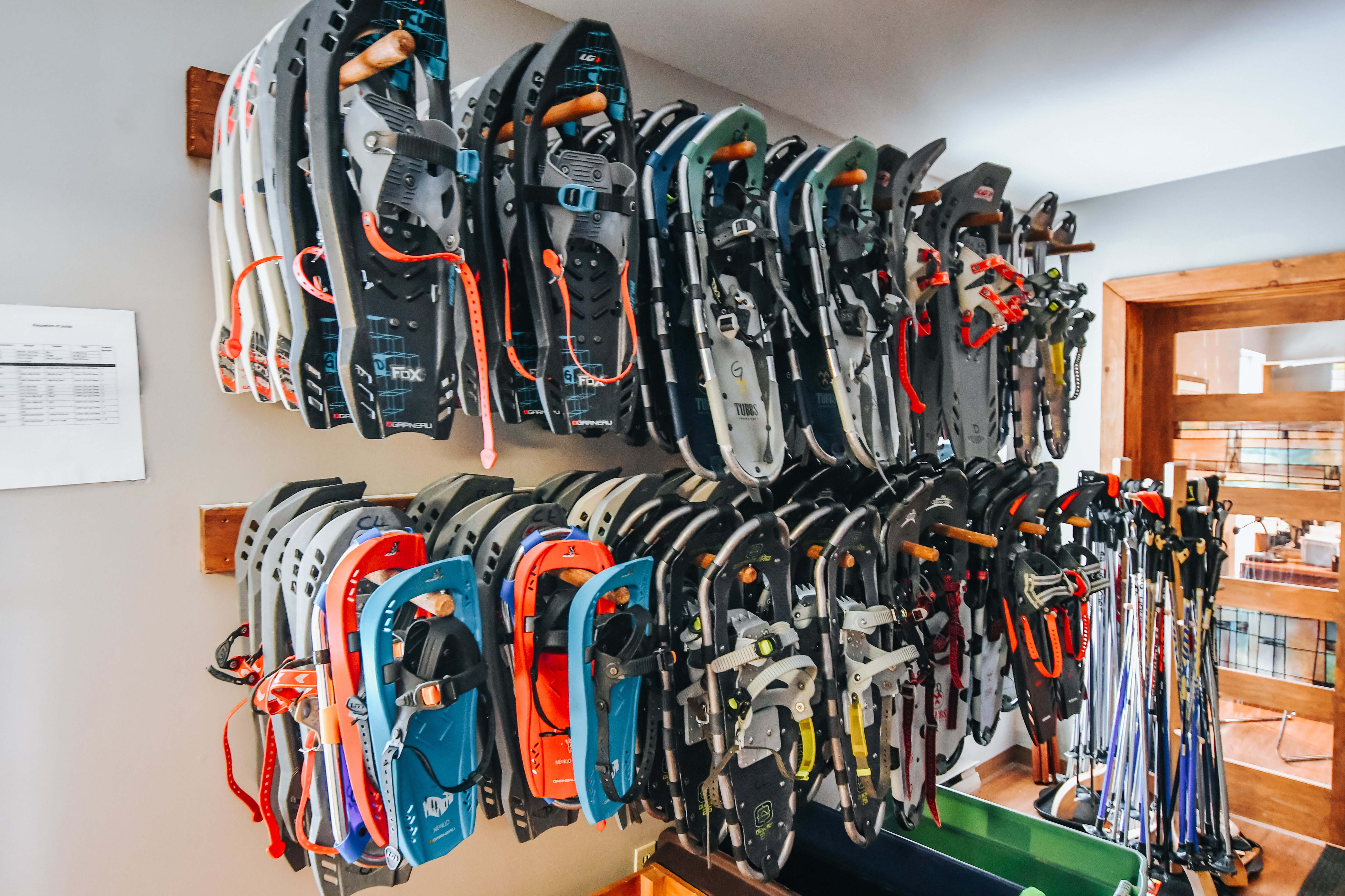 snowshoe rentals at chalets lanaudiere