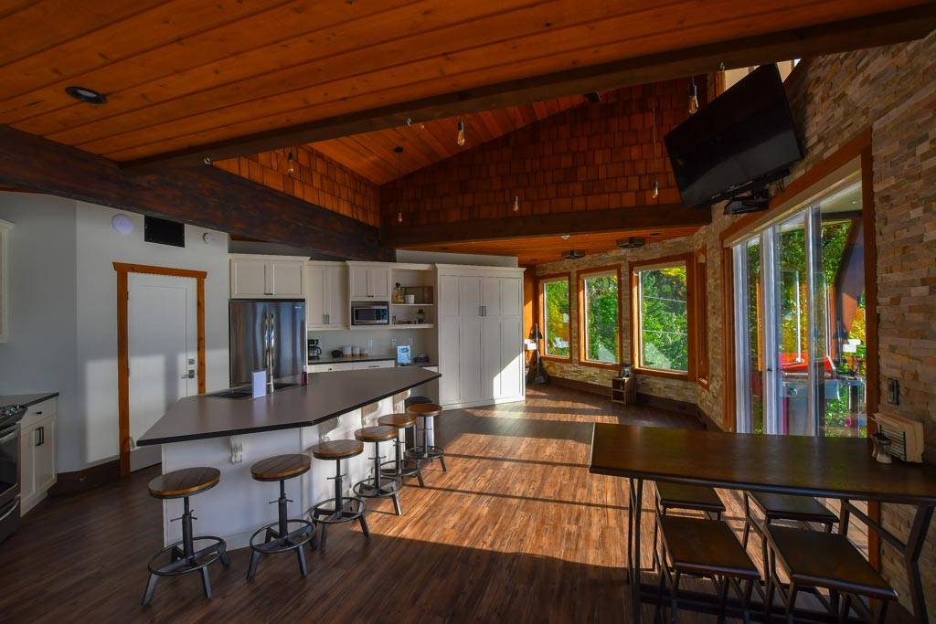 Kitchen at The Lodge At Harrison Lake