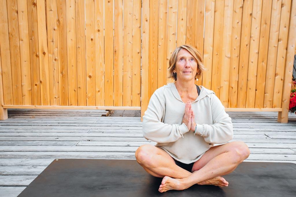 yoga instructor at Banff Family Sunrise Yoga
