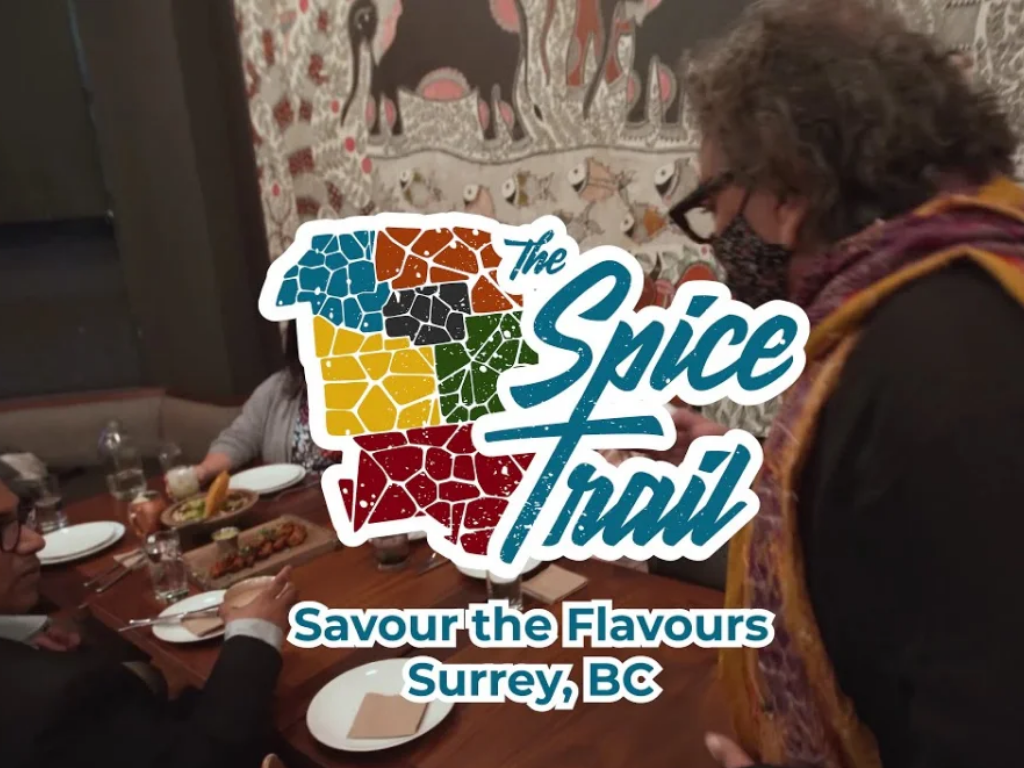person cooking food with work overlay of spice trail